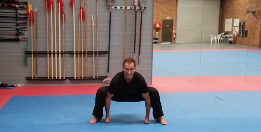 Sumo Groin Stretch
